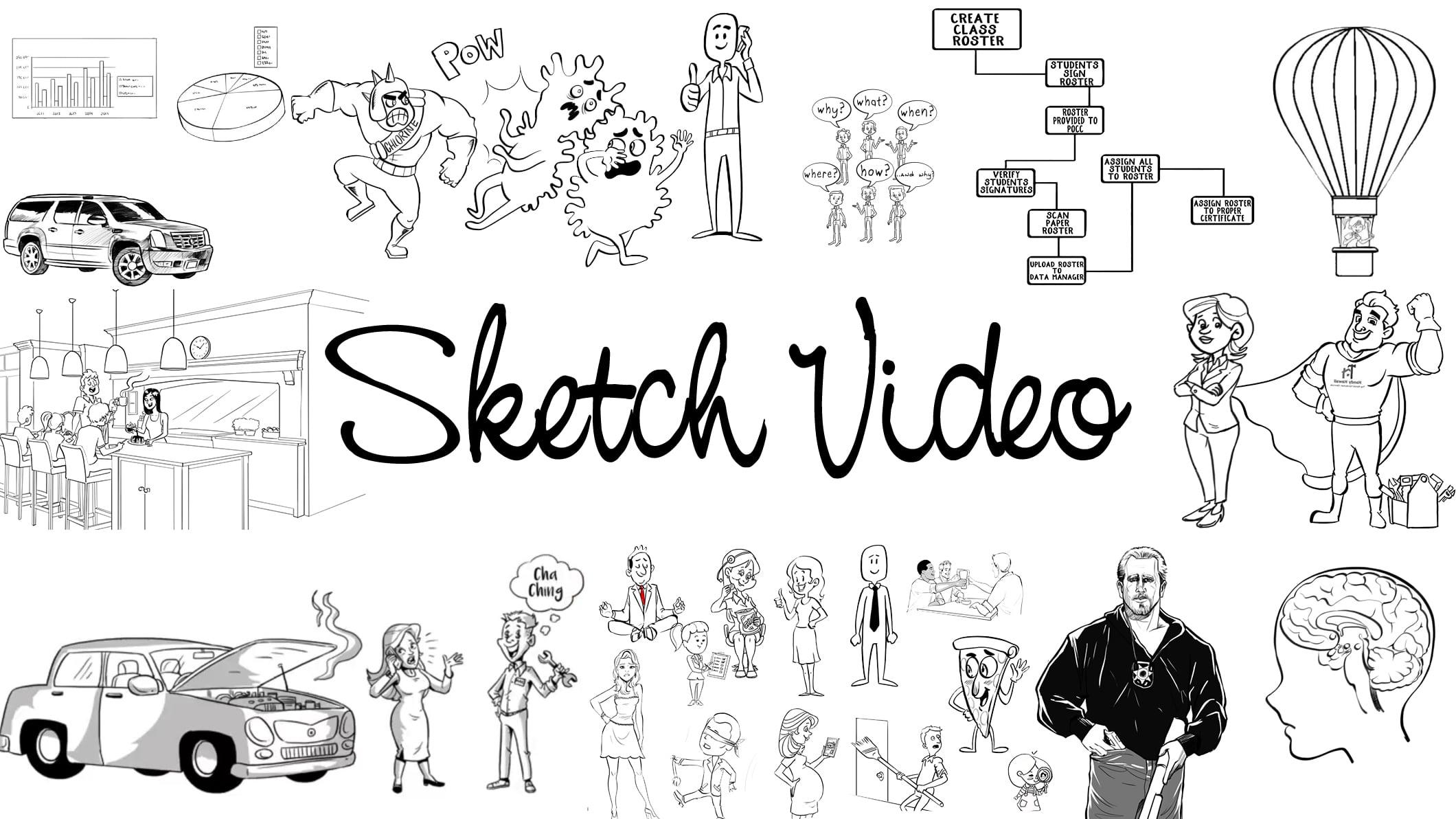 Sketch, Explainer, Animation, Whiteboard Videos